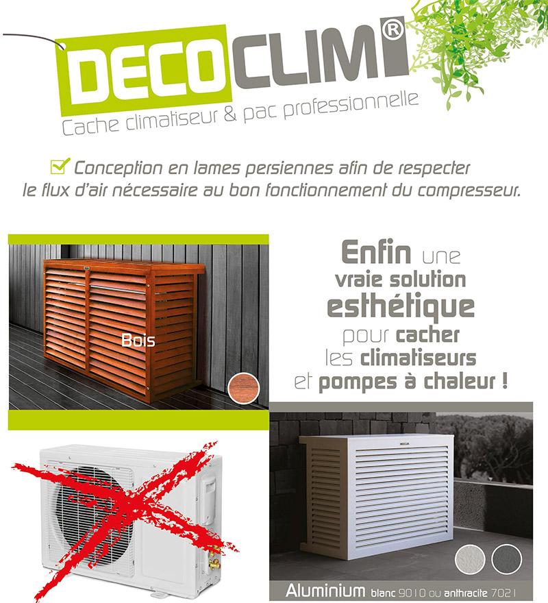 Déco Clim® – Cache climatiseur et PAC